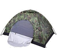 Туристическая Палатка 2*1.5*1.1, Камуфляжная палатка, 2х местная палатка, Палатка с окнами,Кемпинговая палатка
