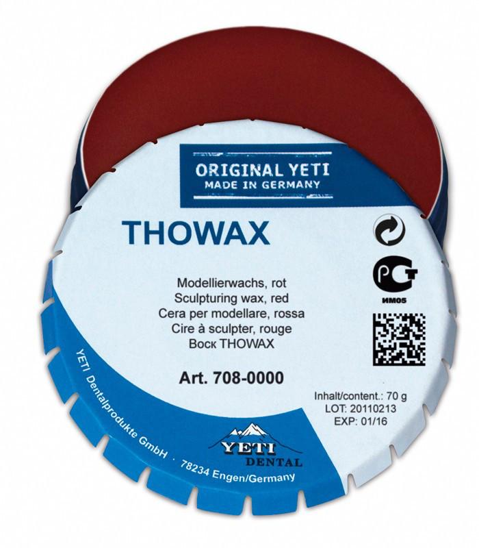 Моделировочный (зуботехнический) воск Yeti Dental THOWAX (Товакс), 70 г Красный полупрозрачный
