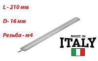 Магниевый анод , Италия, M4  d-16mm, L-210mm