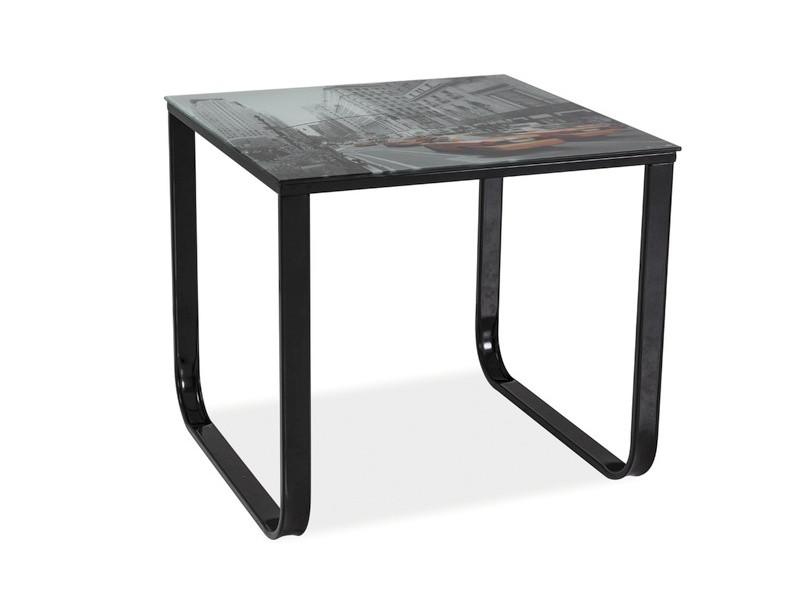 Журнальний кофейний стіл зі скла у вітальню Taxi D Signal
