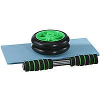 Колесо для мышц пресса, диаметр 14 см (0872) Зеленое