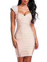 Утягивающее платье светлое айвори
