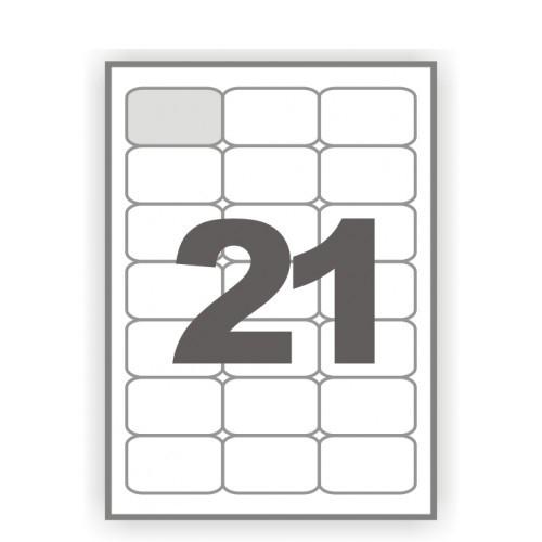 Наклейки прямоугольные с закругленными углами 21 шт., 6,3*3,8 см