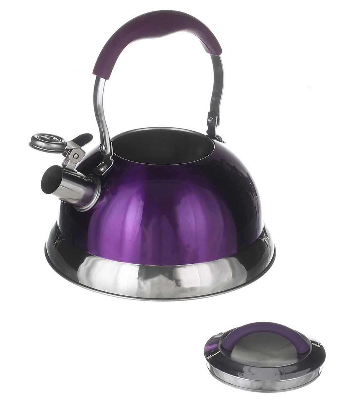 Чайник A-PLUS со свистком 3.2 л (1383) Фиолетовый
