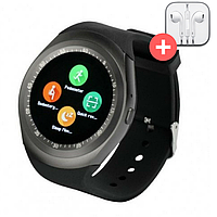 Умные часы Smart Watch Y1 с SIM картой. Черный. Black, фото 1