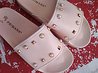 Женские шлепки сланцы с жемчужинами, нюд, Англия. в наличии 37 38 , фото 1