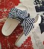 Женские шлепки сланцы с бантом, полоска, Англия. в наличии 37 38 39 40 41
