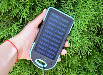 Павер Банк на солнечной батарее Solar Charger 10000 mAh (реплика) Blue