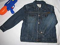 Джинсовая куртка  Genuine Kids оригинал рост 110 см темно синяя 07136, фото 1