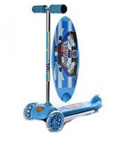 Самокат пластмассовый ITRIKE 3 колеса (ВВ 3-041) Синий