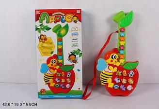 Музичний розв. гітара-піаніно Яблуко CY-6061B батар., звуки тварин, в кор. 42*19*5,5 см
