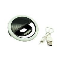 Селфи кольцо на аккумуляторе, черное, фото 1