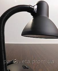 Черная лампа настольная