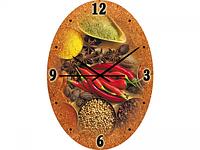 Часы настен. Восточные пряности (стекло)