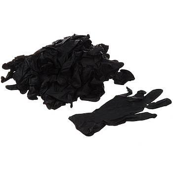 Перчатки нитриловые без талька Master Professional Safe-touch 25 пар Черные