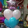 Фонтан из звезды с надписью и 9 шаров 30 см.