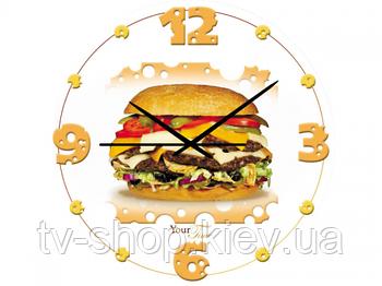Часы настен. Чизбургер(стекло)