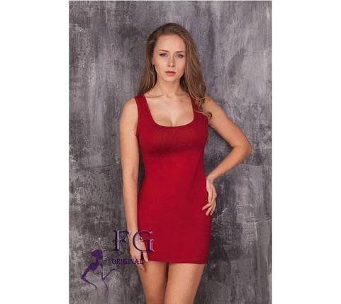 """Стильное летнее однотонное женское платье майка """"Jersey"""", бордовое, фото 2"""