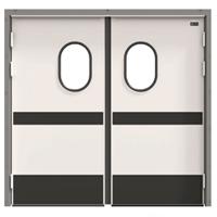 Распашные маятниковые двери (жёсткие)