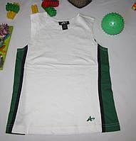 Спортивная майка Athletech рост 116 см белая+зеленая 07088, фото 1