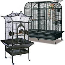 Вольеры и клетки для крупных попугаев