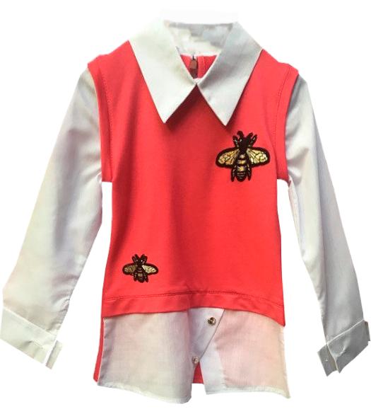 """Детская кофта рубашка """"Пчелки"""""""