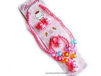 Набор детской бижутерии: Бусы, браслет, колечко и клипсы