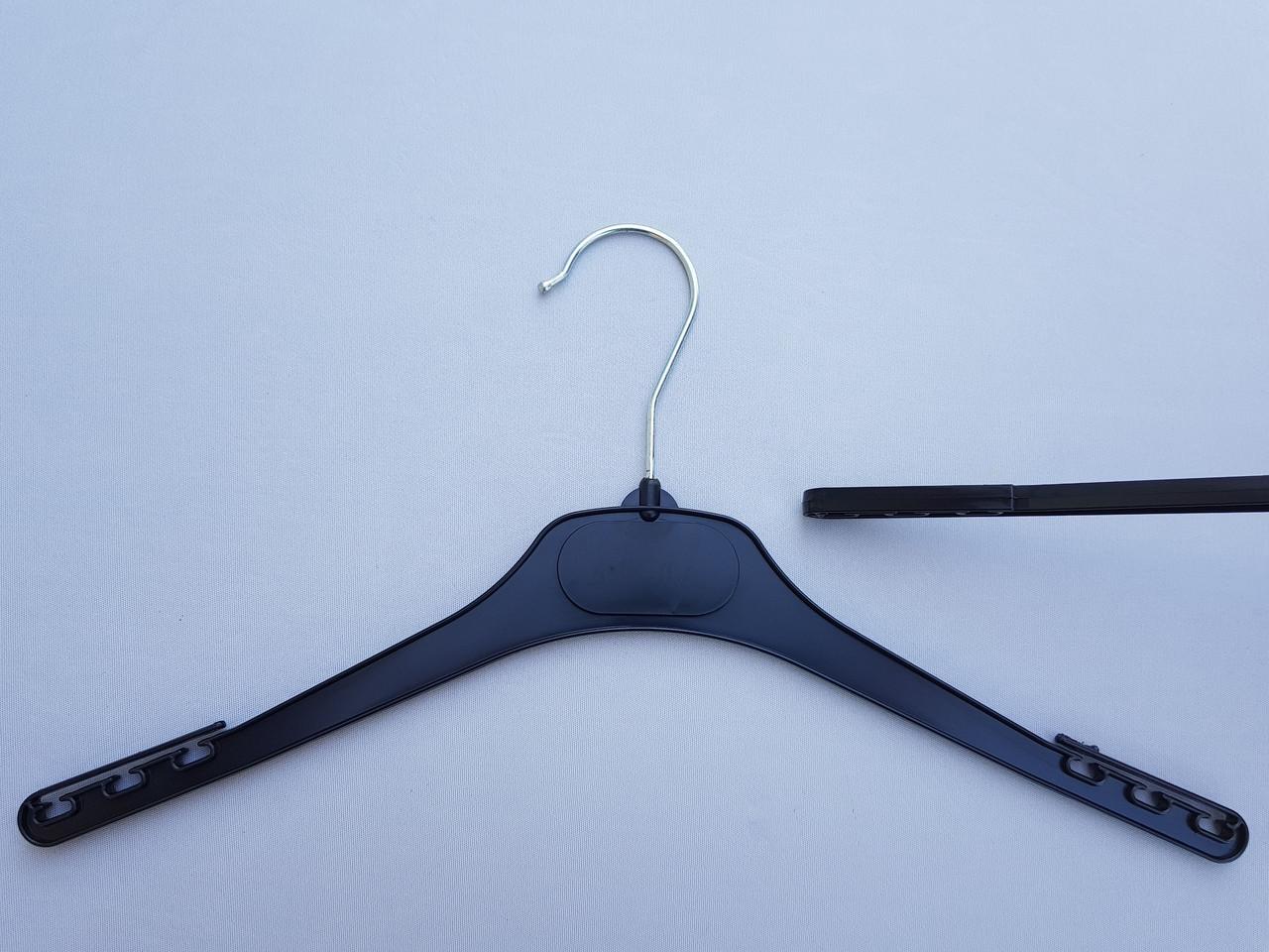 Плечики  V-DP42 черного цвета, длина 42 см