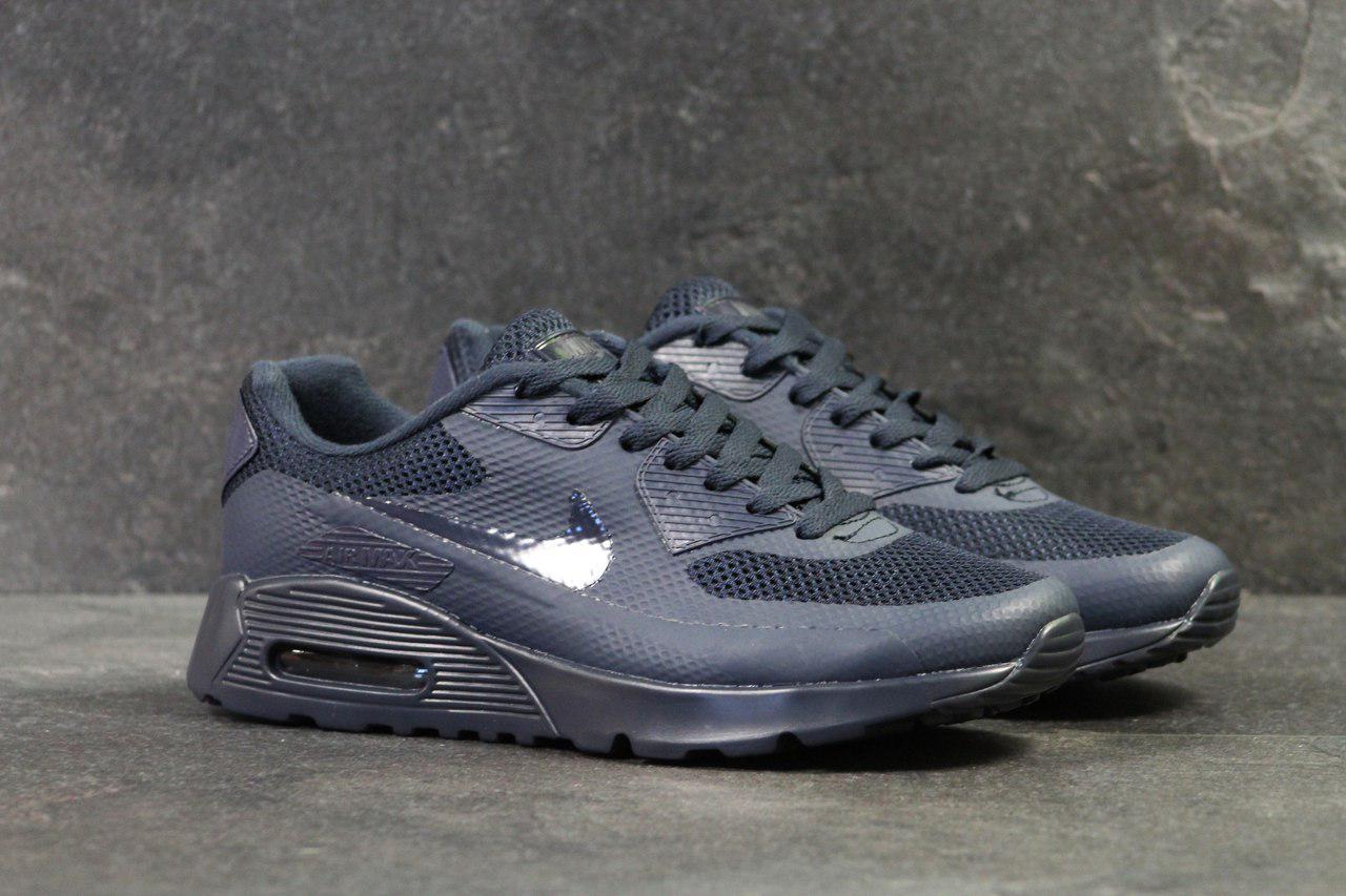 fd0837957d30 Кроссовки Nike Air Max Hyperfuse мужские, темно-синие (Реплика ...