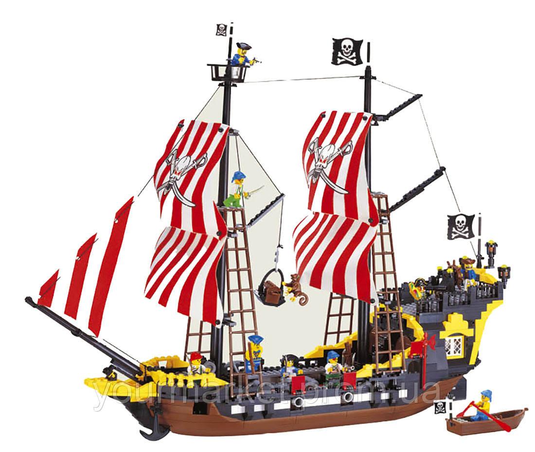 Конструктор Brick 308 Пиратский корабль Черная Жемчужина, 870 деталей