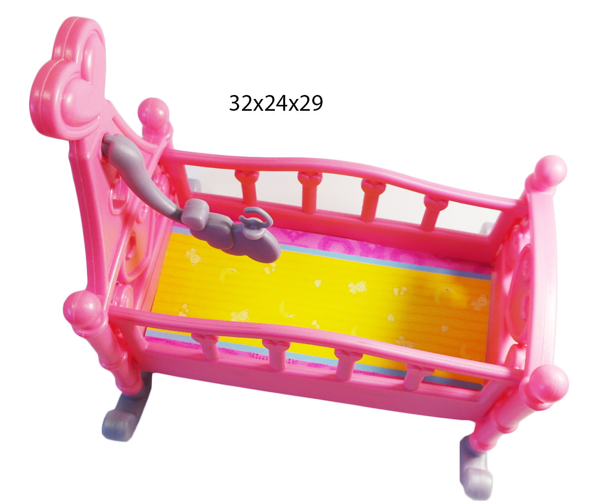Кроватка 60553P (1015181)  люлька, в пак. 32*24*29см
