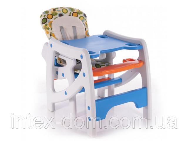 Стульчик-трансформер для кормления Bambi HZ 502 Оранжево-голубой