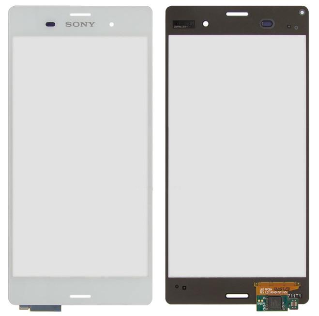 Сенсорный экран Sony D5803/D5833 Xperia Z3 белый (тачскрин, стекло в сборе), Сенсорний екран Sony D5803 / D5833 Xperia Z3 білий (тачскрін, скло в