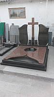 """Двойной памятник из гранита - """"Свеча"""""""