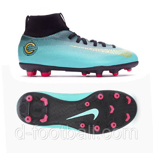 Футбольные бутсы детские Nike Mercurial Superfly 6 Club Ronaldo MG Junior  AJ3115-390 4c1ee690f15