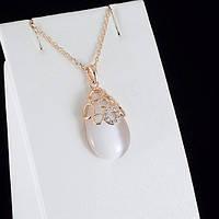 Непревзойденный кулон с кристаллами Swarovski + цепочка, покрытые золотом 0841