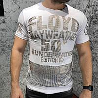 Футболка Philipp Plein T-Shirt Round Neck SS Mayweather One White   реплика, фото 1