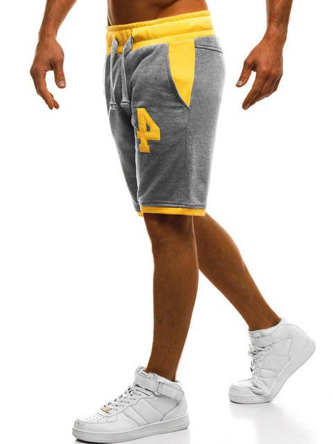 Мужские шорты Mechanich серо-желтые, фото 3