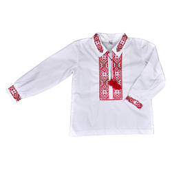 Вышиванка белого цвета для мальчика, Valeri tex