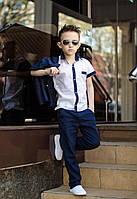Детский Костюм на мальчика из льна тройка, фото 1