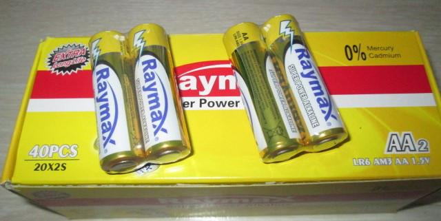 Батарейки Raymax LR6 AA alkaline 1.5V
