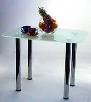 """Стол обеденный стеклянный на хромированных ножках Maxi DT DX 800/710 """"матовый"""" стекло, хром"""