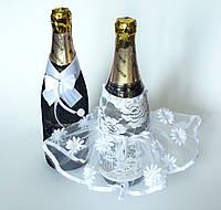 Украшение для свадебного шампанского.