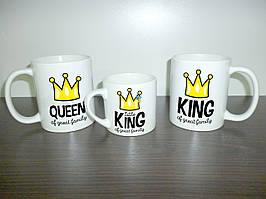 """Гуртки для всієї родини """"King & Queen"""" тато, мама, син"""