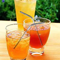 Металлические соломинки для напитков! Трубочки из металла с ершиками! Набор: 8 штук + 3 ершика!