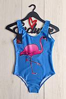 Купальник-боди фламинго , слитные купальники.