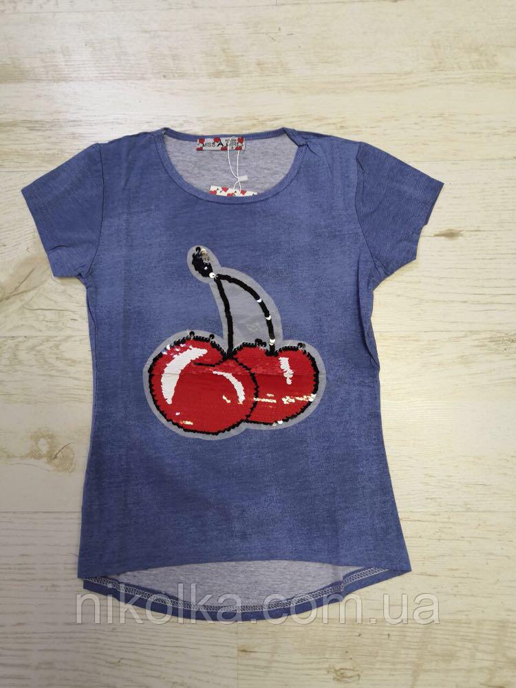 Футболка для девочек оптом, Miss Girl, 6-14 лет., Арт. CSQ-99120