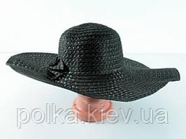 Соломенная шляпа Котьир 48 см черная