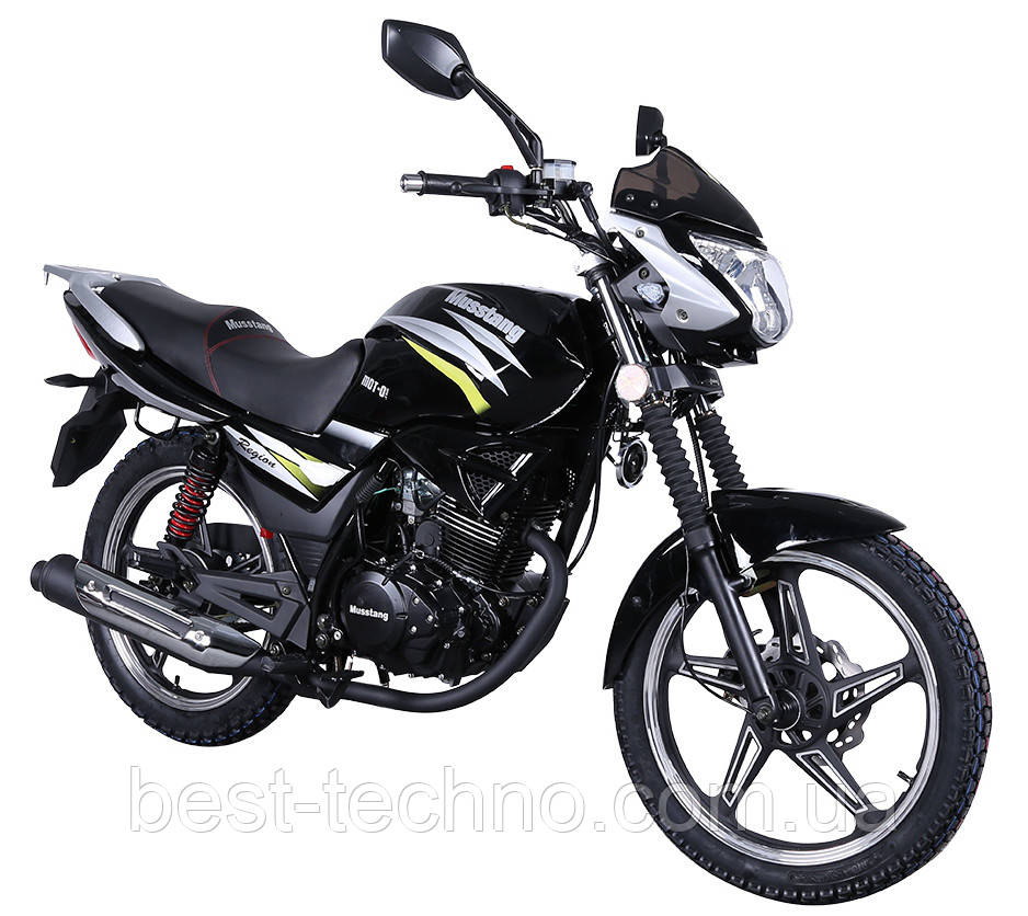 Мотоцикл Musstang Region MT150 black (Мусстанг Регион МТ150 черный)