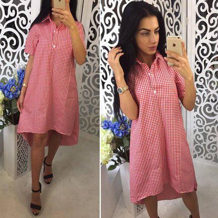 Свободное большое летнее платье рубашка, фото 2